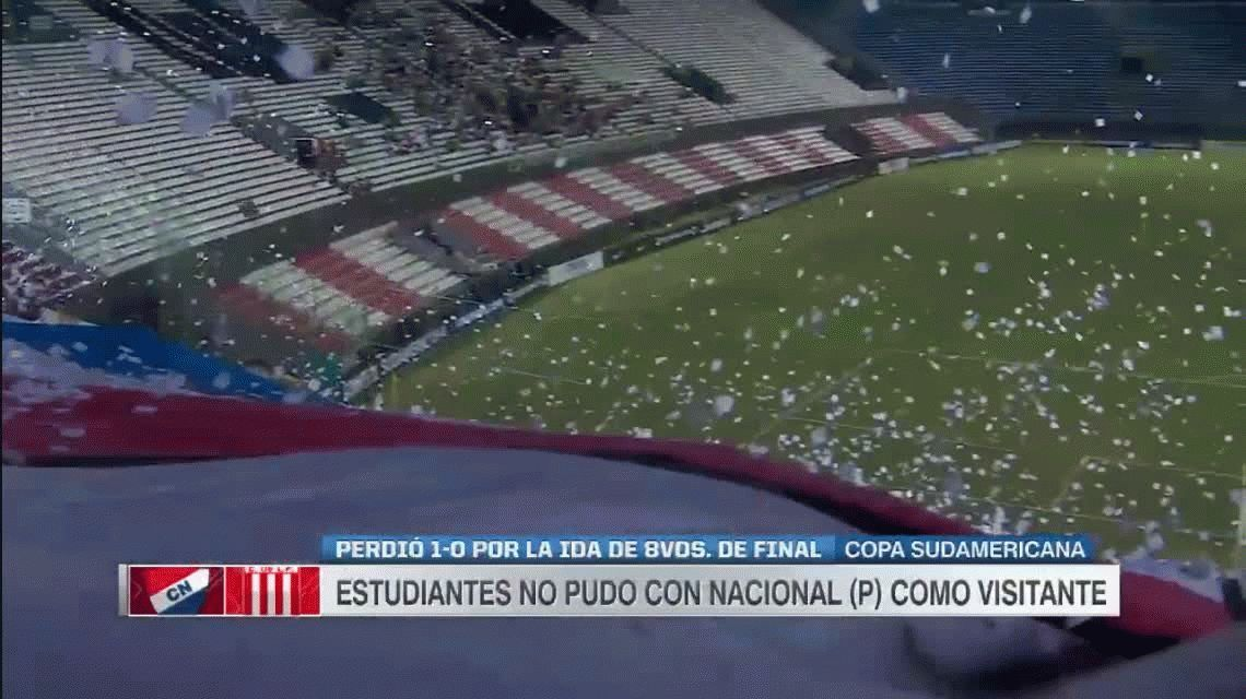 Copa Sudamericana: Estudiantes de La Plata perdió con Nacional de Paraguay en Asunción