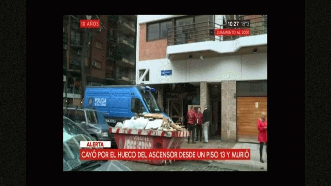 Un hombre murió al caer por el hueco de un ascensor en Belgrano