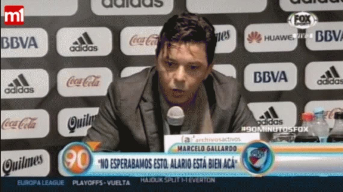 Gallardo, sobre la posible partida de Alario: Si quiere irse lo acompaño a Ezeiza