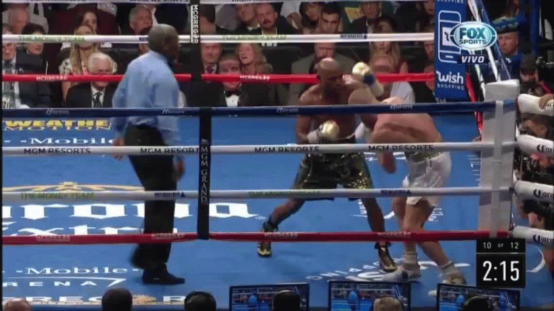 VIDEO: El nocaut técnico con el que Mayweather venció a McGregor
