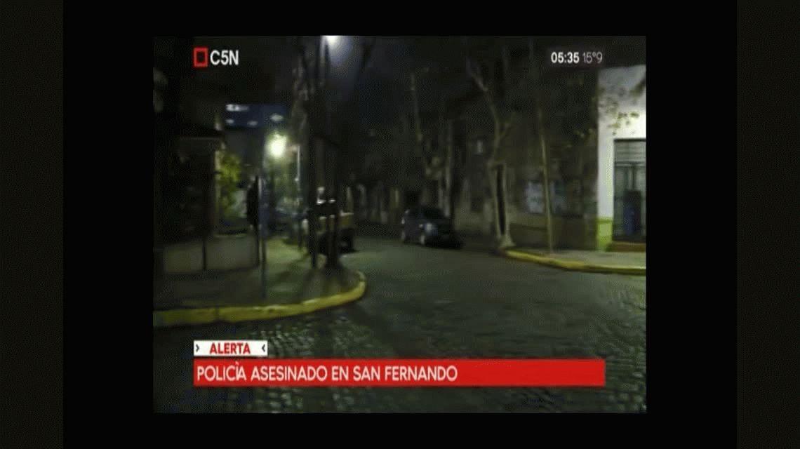 San Fernando: policía intenta identificar sospechosos y lo matan de un tiro