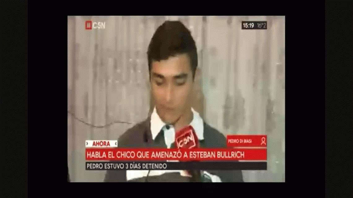 Habló el joven que amenazó a Esteban Bullrich: No sabía quién era este señor