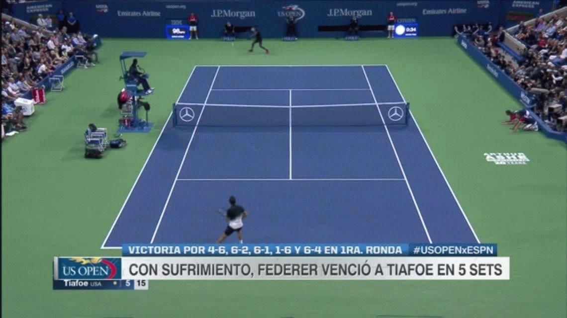 US Open: Frances Tiafoe fue un hueso duro de roer para Roger Federer que le ganó cinco sets