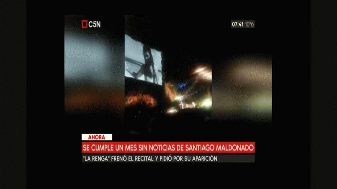 VIDEO: Así frenó su recital La Renga para pedir por Santiago Maldonado