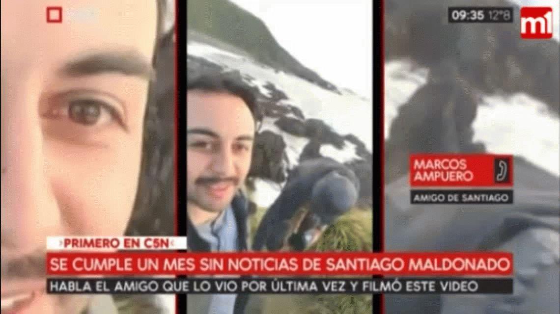 El amigo que publicó fotos reconoció a Santiago Maldonado en el video