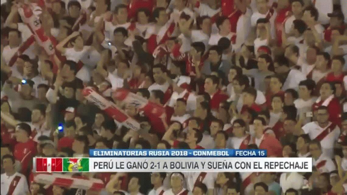 Perú 2 - Bolivia 1 por las Eliminatorias Rusia 2018: goles y estadísticas