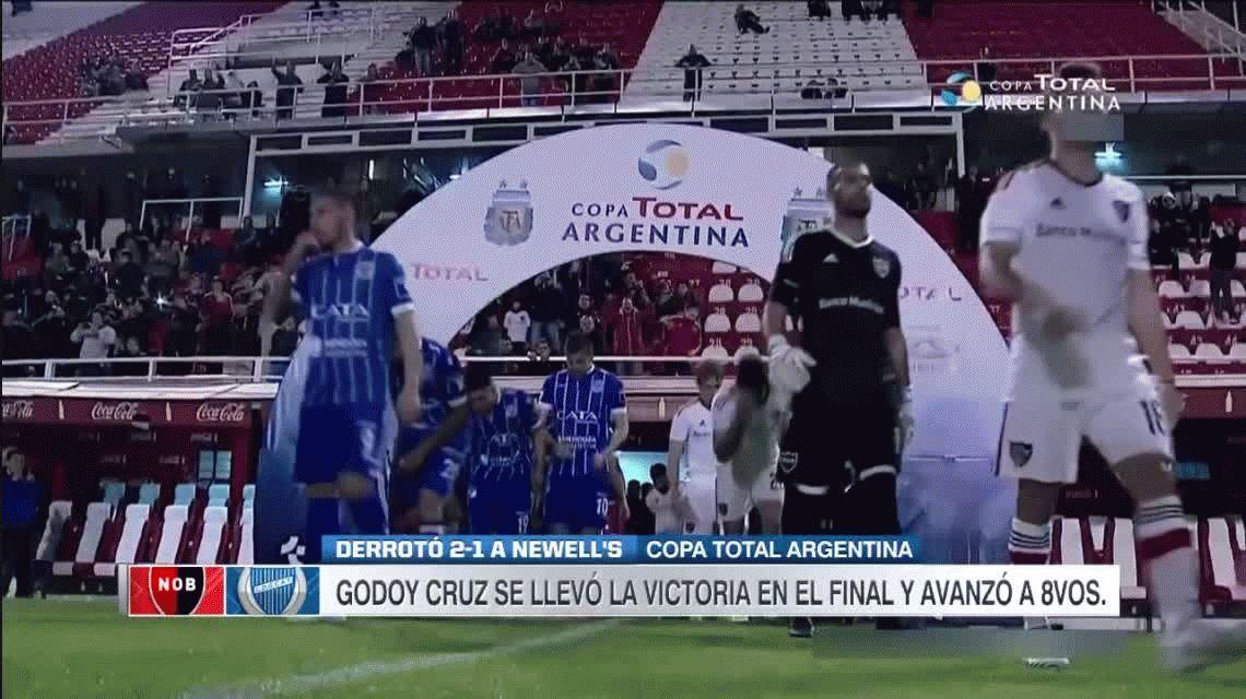 Godoy Cruz 2 – Newells 1 por Copa Argentina 2017: goles y estadísticas