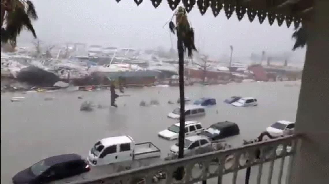 El huracán Irma impactó en las islas del Caribe
