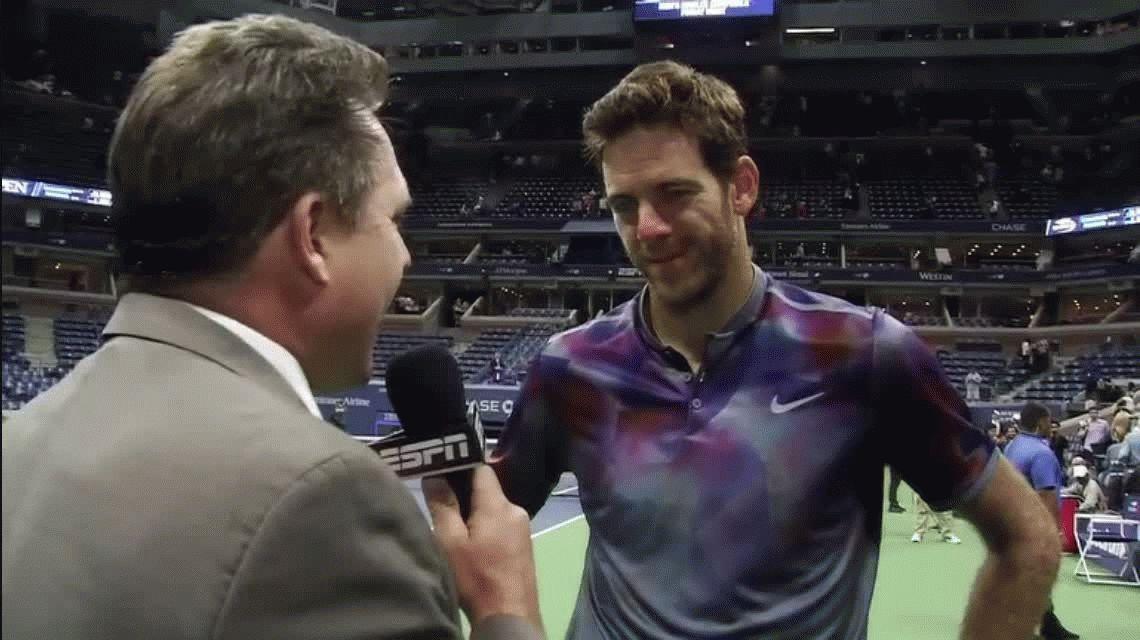 Del Potro: Le pegué lo más fuerte que pude, era la única forma de ganarle a Federer