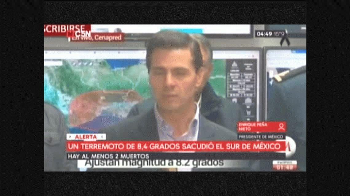 Peña Nieto tras el terremoto de México: Es probable que tengamos otra réplica