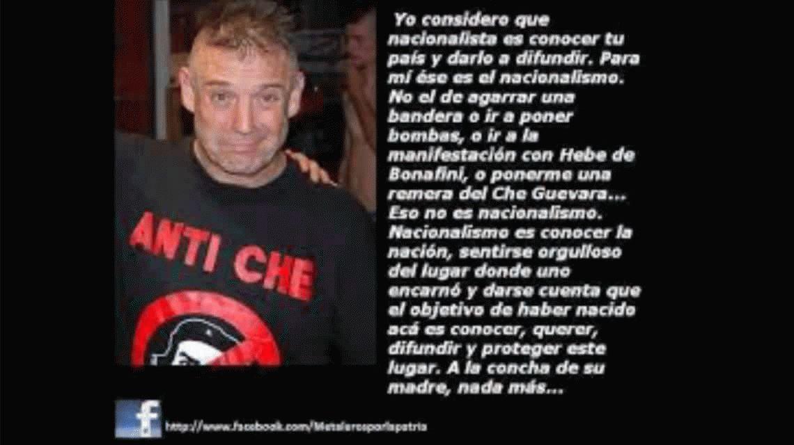 Ricardo Iorio le respondió a quienes lo acusan de ser un fascista