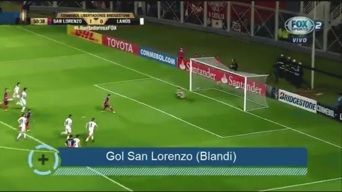 San Lorenzo se impuso a Lanús y tiene un pie en las semifinales