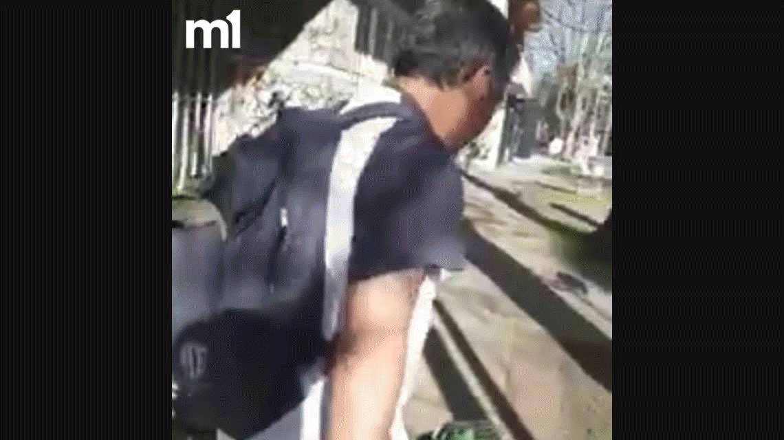 Le dijo guarangadas por la calle y lo escrachó en un video