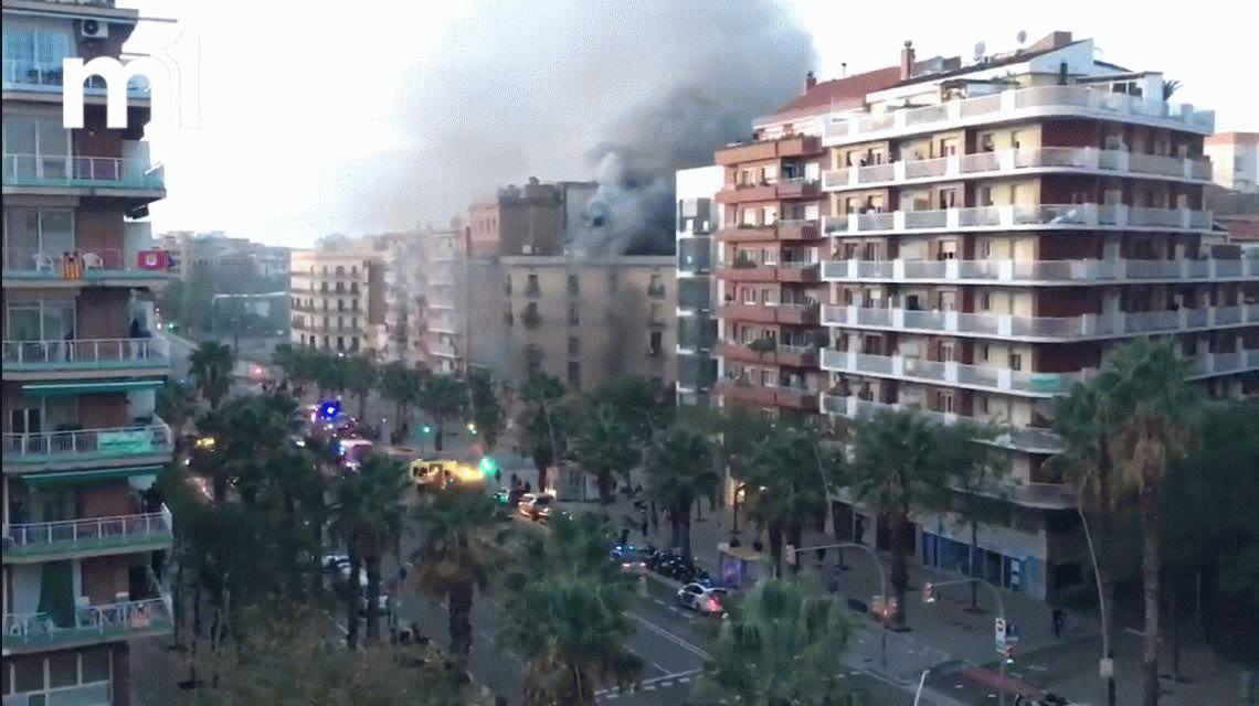 Explosión en una panadería de Barcelona: hay 19 personas heridas, una en estado crítico