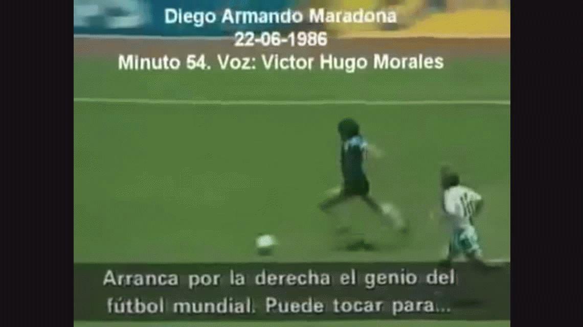 Un fanático de Maradona se tatuó el gol del siglo a los ingleses