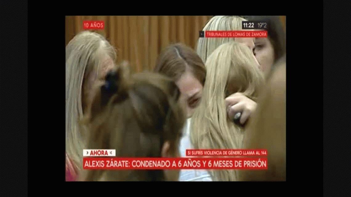 La reacción de la víctima cuando se leyó la condena a Alexis Zárate