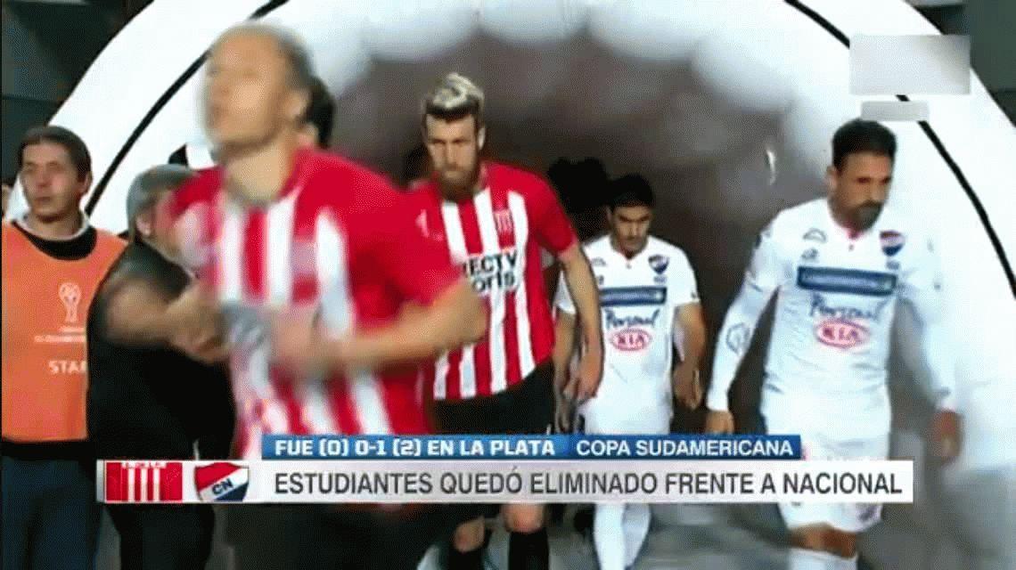 Estudiantes de La Plata 0 - Nacional de Paraguay 1 por la Copa Sudamericana: gol y estadísticas