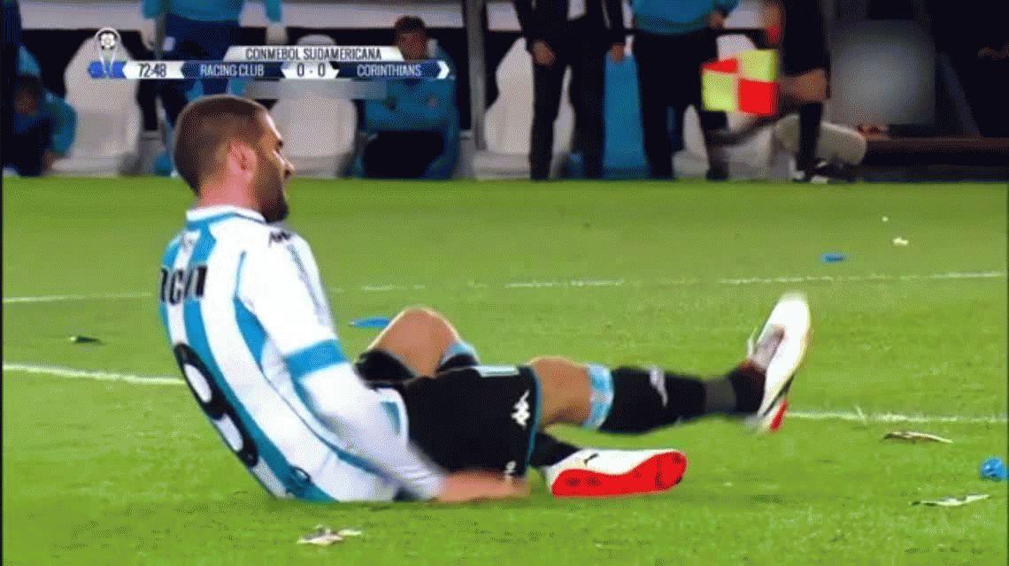 VIDEO: Licha López terminó jugando con sangre en el botín por un golpe en un pie