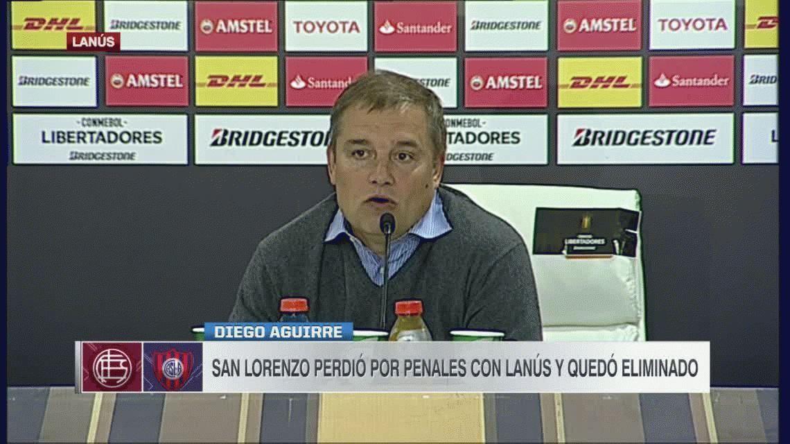 Diego Aguirre, abatido, no quiso hablar de su continuidad