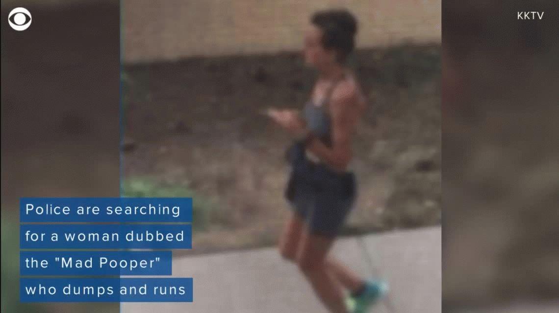 La policía busca a la runner que hace caca en la entrada de las casas