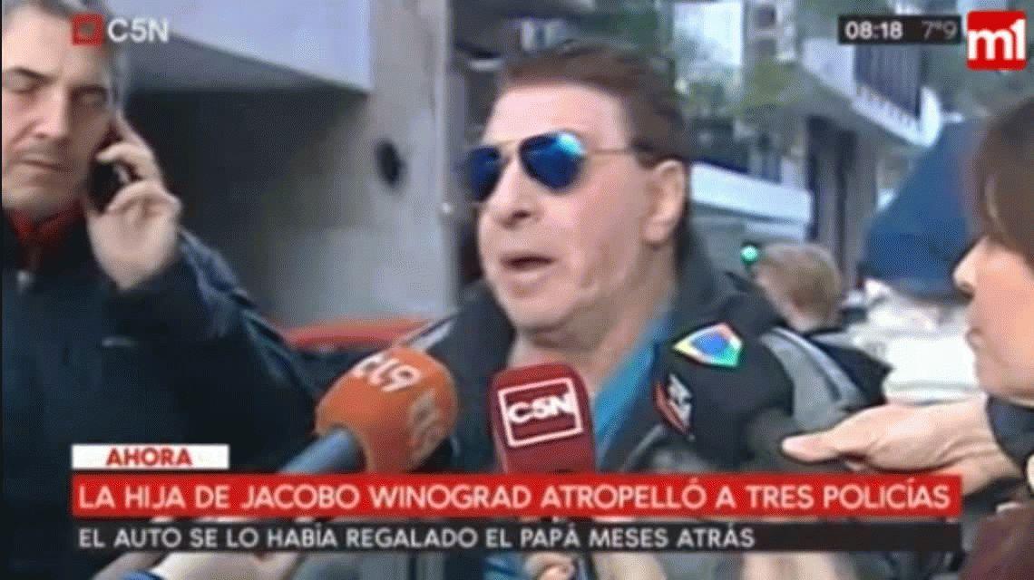A contramano, la hija de Jacobo Winograd atropelló a tres policías y un transeúnte