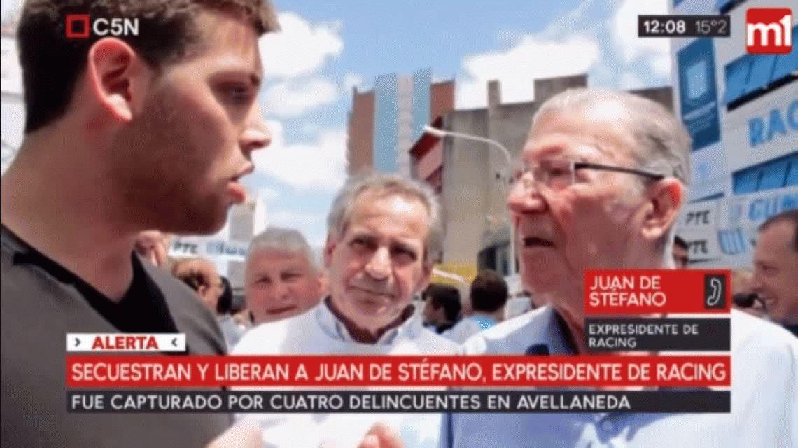Secuestraron y liberaron al ex presidente de Racing Juan De Stéfano
