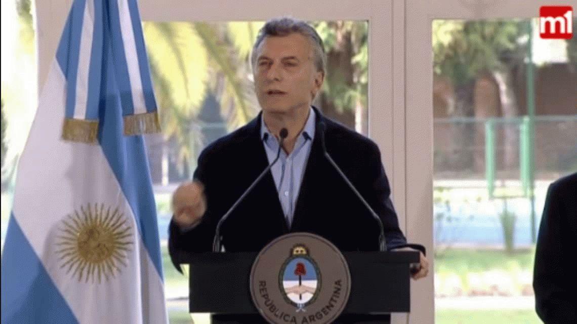 Macri, sobre la detención del Pata Medina: No hay lugar para mafiosos