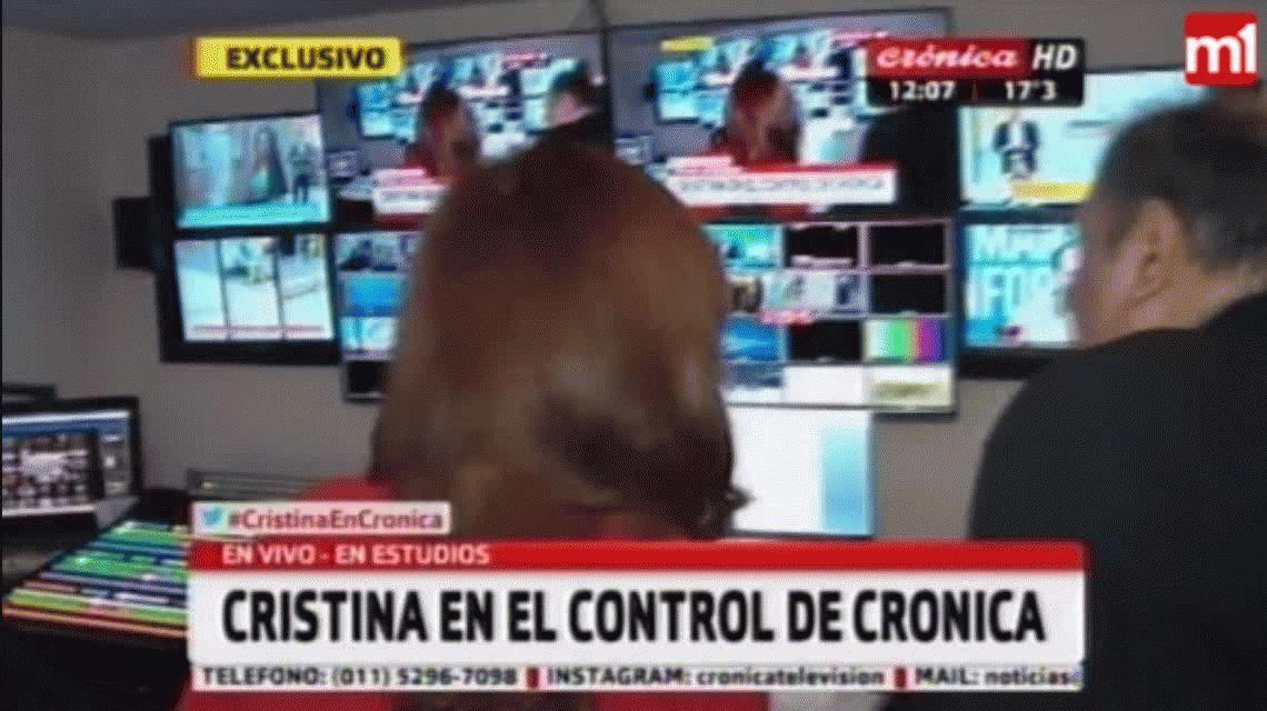 Placa roja y panelista: el show de Cristina Kirchner en un canal de televisión