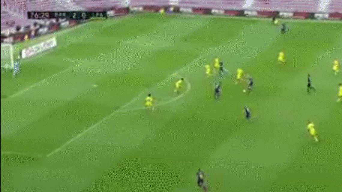 Los goles de Messi ante un Camp Nou sin público por el referéndum