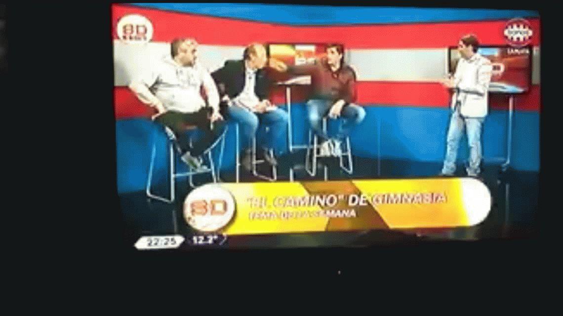 VIDEO: Gastón Sessa se cruzó en TV con Alberto Raimundi, el relator de Gimnasia, y casi terminan a las piñas