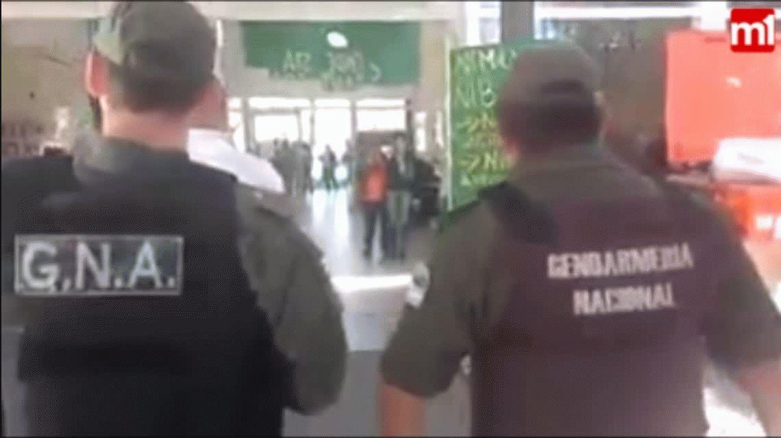 Gendarmería interrumpió un acto por Maldonado en una universidad