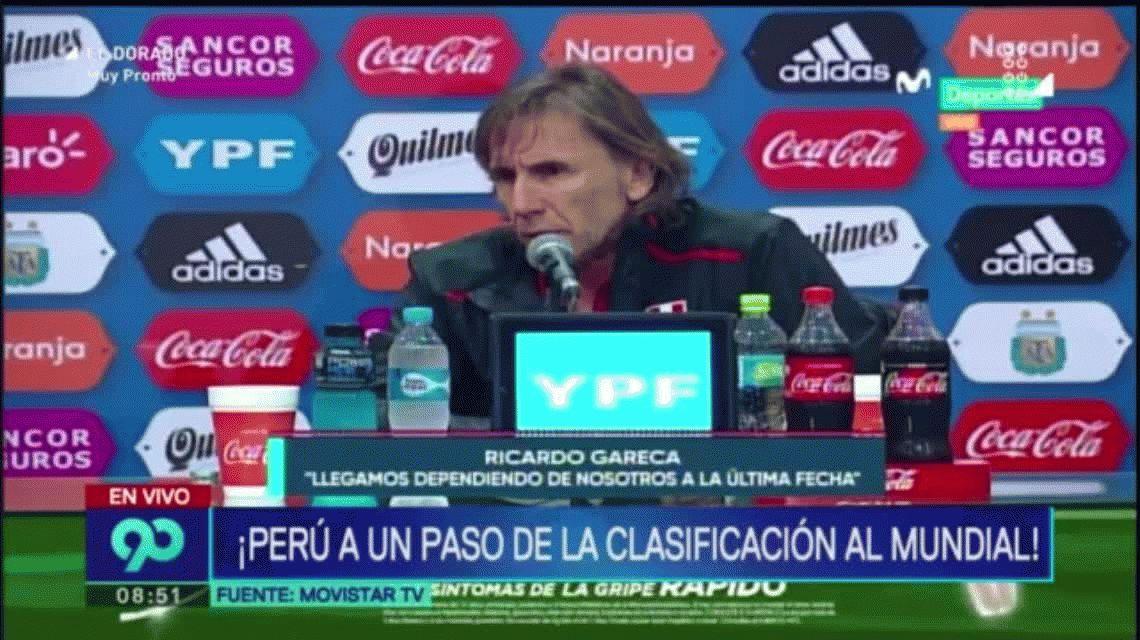 Ricardo Gareca, lapidario con la elección de La Bombonera para Argentina-Perú
