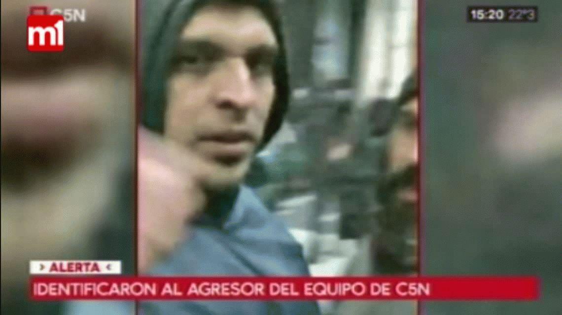 Identificaron al hombre que agredió el móvil de C5N en la marcha por Santiago Maldonado
