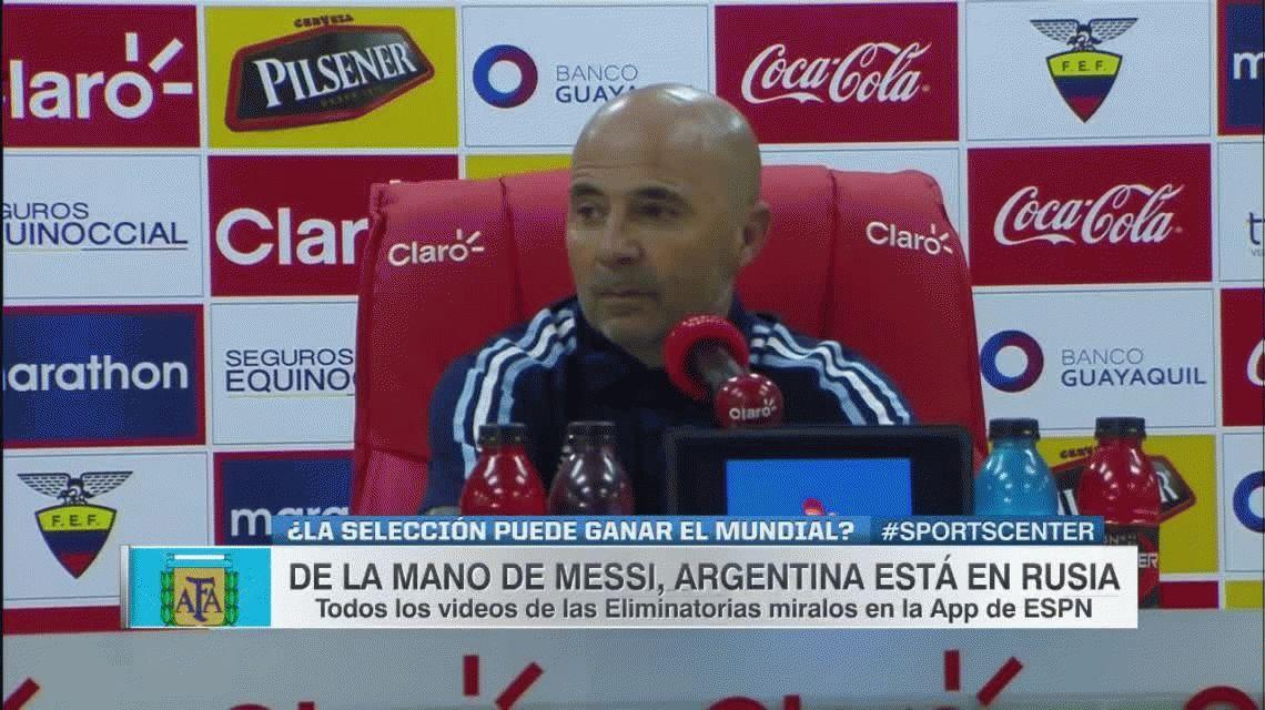 Sampaoli: Messi no le debe el Mundial a Argentina, el fútbol le debe el Mundial a Messi