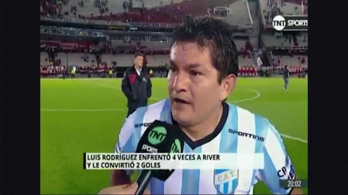 VIDEO: La Pulga Rodríguez le recordó a River el día que se fue a la B