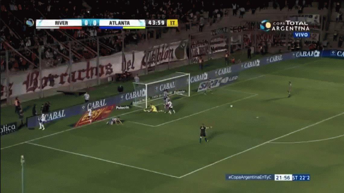 River se aprovechó de Atlanta y es el primer semifinalista de la Copa Argentina