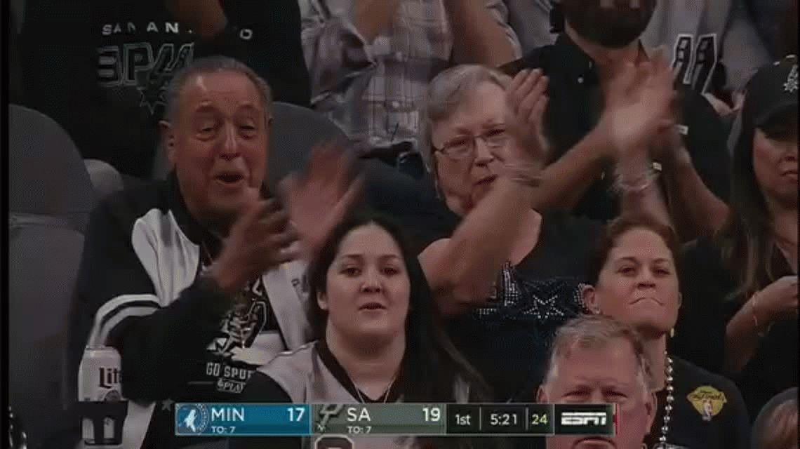 Inoxidable: Ginóbili inició su decimosexta temporada con San Antonio Spurs aportando nueve puntos para la victoria
