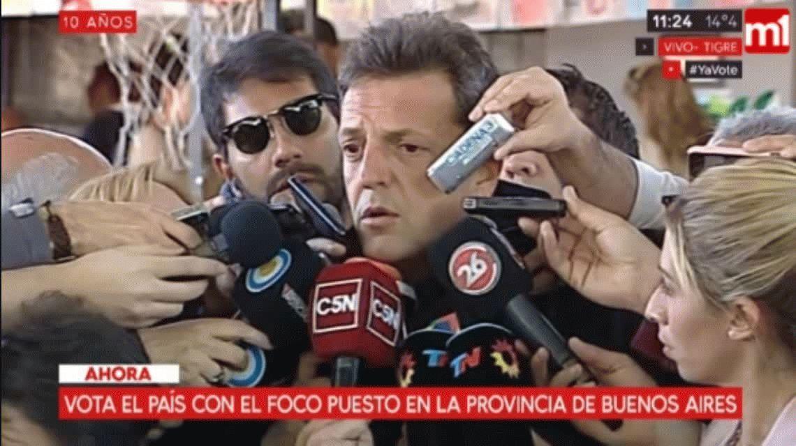 Votó Massa y habló sobre Santiago Maldonado: Tenemos que exigir la verdad