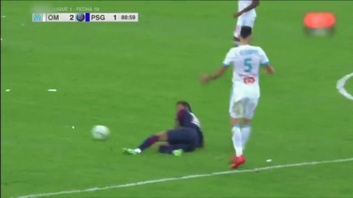 Neymar agredió a Lucas Ocampos y se fue expulsado