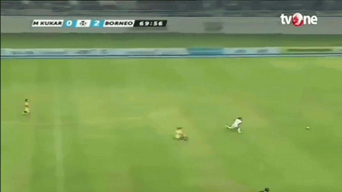 ¡Usain Bolt con botines! No vas a poder creer este gol de Terens Puhiri en Indonesia