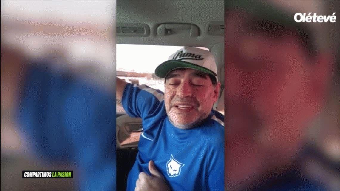 Maradona le dedicó un mensaje a River de cara a la semifinal ante Lanús