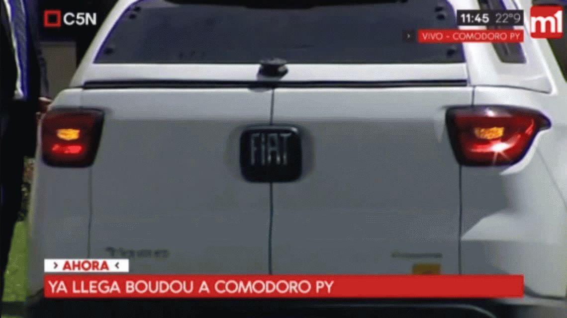 Amado Boudou ya está en Comodoro Py para ser indagado por el juez Lijo