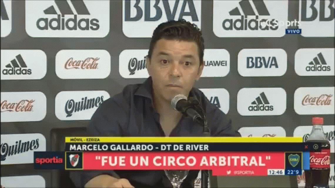 La impactante frase de Gallardo para referirse a la derrota de River ante Lanús