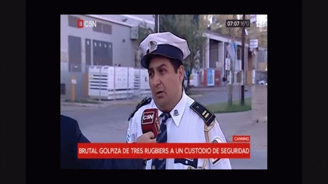 Habló el compañero del seguridad golpeado por rugbiers: Los padres se reían