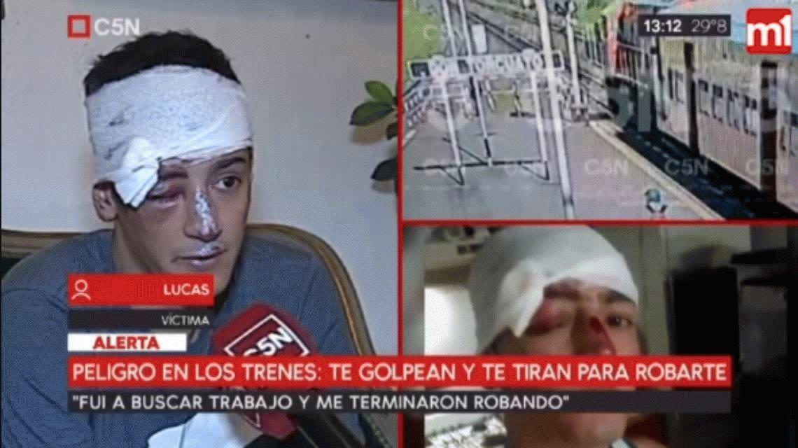 Robaron y tiraron del tren a un joven en la misma estación que atacaron a Brenda