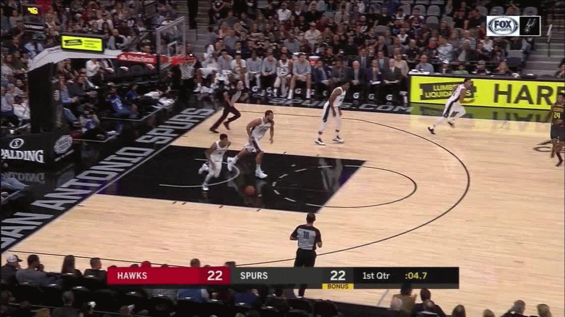 Otra buena actuación de Ginóbili: segundo máximo anotador de San Antonio Spurs ante los Atlanta Hawks