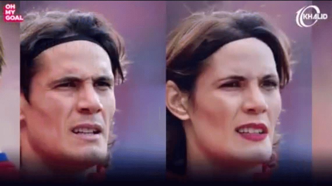 El video que muestra cómo sería la versión femenina de las estrellas del fútbol