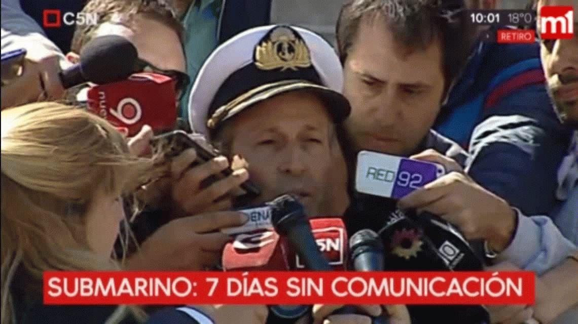 Nuevo parte: aún no hubo contactos con el submarino ARA San Juan