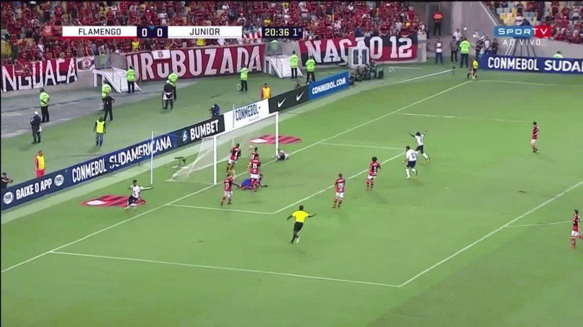 Flamengo 2 - Junior de Barranquilla 1: goles y estadísticas