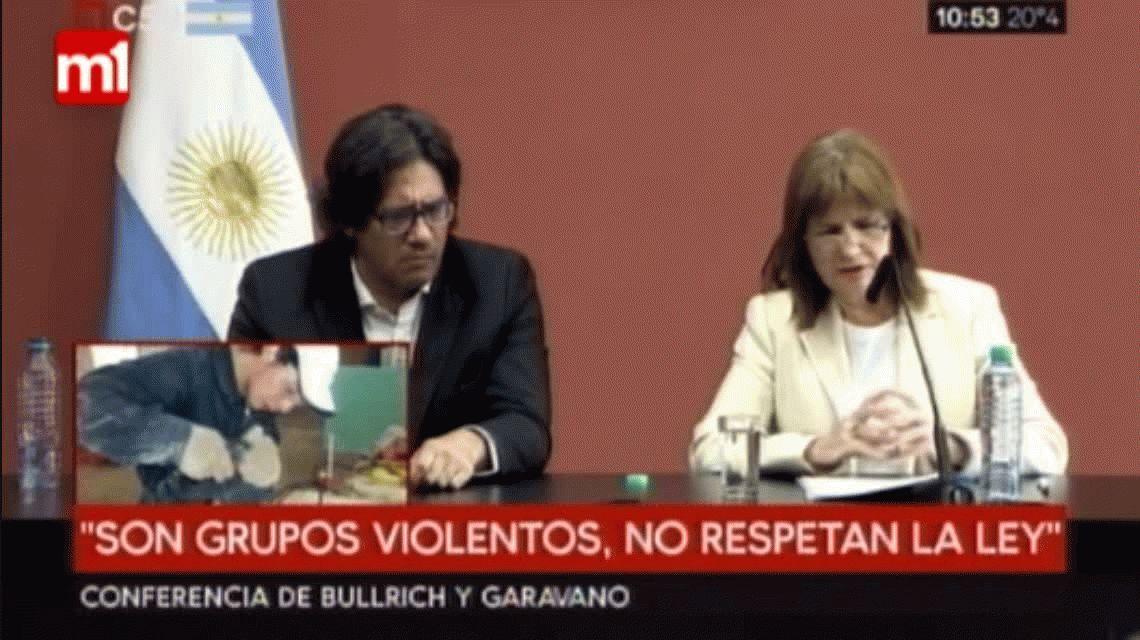 Bullrich habló tras la muerte del joven mapuche: El desalojo fue una acción legal